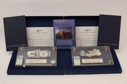 ANDREA DORIA SALVAGED $1 Silver Cert + 1000 Lire