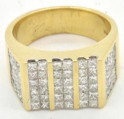 Men's 3 Cttw Diamond Ring, 14k
