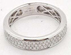 MEN'S 14KT WHITE GOLD DIAMOND RING/BAND