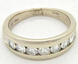 1ctw Of Diamonds Set In This 14kt White Gold Ring
