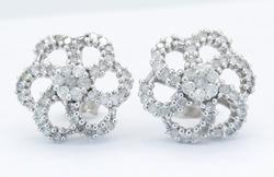Absolutely Stunning 1.03CTW Diamond Earrings