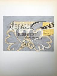 COLLECTIBLE VINTAGE BRAQUE LITHOGRAPH CIRCA 1959