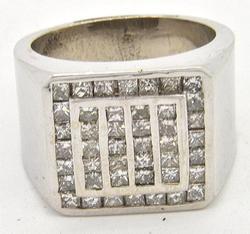 Bold Gents Heavy 2.6ctw Diamond Ring, 14kt Gold