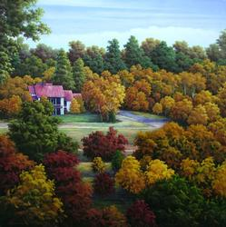 COLORFUL LANDSCAPE PAINTING BY LEE
