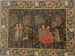 SCENES GALLANTS BELGIAN TAPESTRY