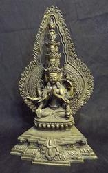 Chenrayzee NEPAL Goddess Statue - Multi-armed BUDDHIST Deity of Compassion