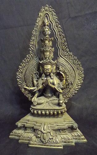 Chenrayzee NEPAL Goddess Statue - Multi-armed BUDDHIST Deity of Compassion