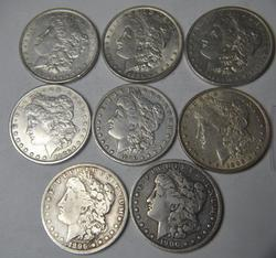 8 Better Pre 1901 Morgan Dollars