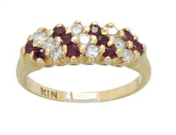 Beautiful & Fancy Ruby and Diamond Ring, 18kt