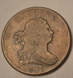 Sharp 1807 Draped Bust Half Cent