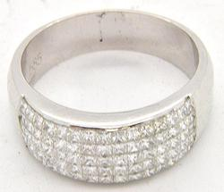 Gents Band Featuring 75 High Quality Diamonds, 14kt