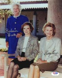 President 1st Ladies Signed Photo Carter Bush Ford PSA