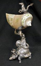 Collectible 73 Troy Oz. Antique .800 Silver Centerpiece