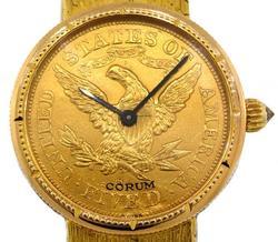 CORUM $5 US GOLD HALF EAGLE COIN WATCH