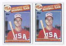 MARK MCGWIRE ROOKIE CARDS