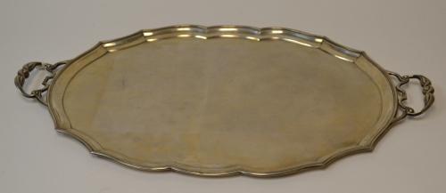 Antique 1869 Heavy Rare Russian Silver Tea Tray
