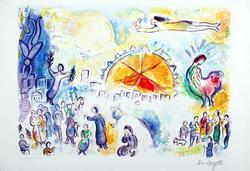 Beautiful Marc Chagall Limited Edition Giclee On Paper