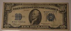 1934 C Series Silver Certificate $10 Star Note