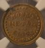 1863 NY Monks Metal Signs Civil War Token  In An NGC  MS 63 Holder