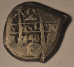 Rare 1748 Dated  2 Real Cobb Bolivia