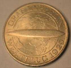1930 A 3 Marks  Zeppelin Germany Uncirculated