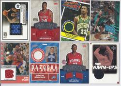 24 GAME USED BASKETBALL CARDS