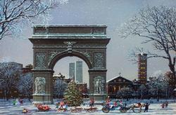 Alexander Chen Washington Square Park Canvas