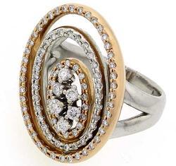 MARVELOUS 18K VS DIAMOND HALO RING