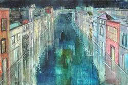Colorful Alex Zwarenstein Long Canal, Venice