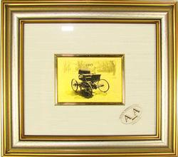 COLLECTIBLE LIMITED CERTIFIED 23KT GOLD LEAF CAR 1893