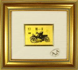 COLLECTIBLE LIMITED CERTIFIED 23KT GOLD LEAF CAR 1927