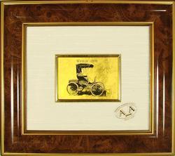 COLLECT. ITALIAN HANDMADE 23KT GOLDLEAF WINTON 1898