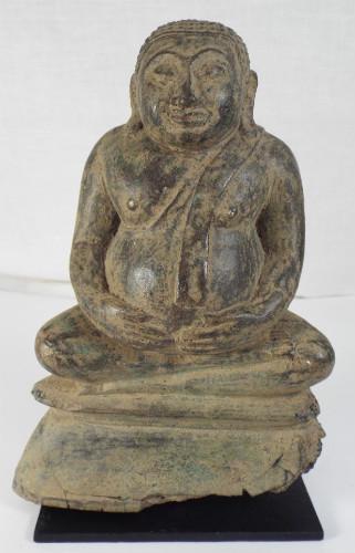 ANTIQUE BUDDHA BRONZE STATUE CIRCA 18TH CENT