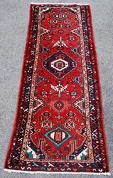 Beautifully Decorated Persian Hamadan Runner 10'