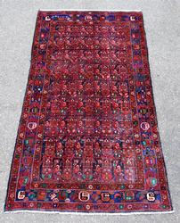 Very High Quality Lustrous Semi-Antique Hosseinabad Rug
