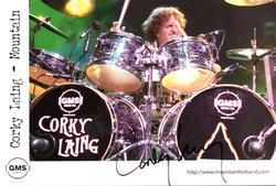 Mountain Corky Laing  Signed 5x8 GMS Drums Photo