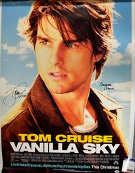 Tom Cruise Cameron Crowe Signed Vanilla Sky Poster
