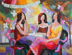Marvelous Kerman Women At Rest Original