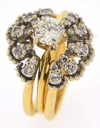 Classic Diamond Solitaire Engagement Ring & Unique Wrap