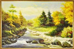 Spectacular Depth Original Oil Landscape Scene