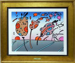 HAND SIGNED PETER MAX LITHOGRAPH