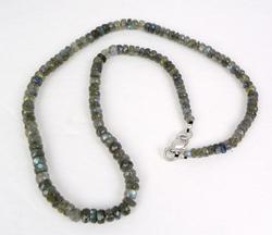 Faceted Labradorite Rondelle Necklace