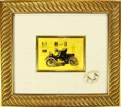 COLLECTIBLE LIMTED CERT. 23KT GOLDLEAF CLASSIC CAR 1927