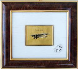 Italian Craft LIMITED Certified 23KT GOLD LEAF FORD AIRCRAFT 1926