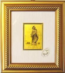 COLLECTIBLE CERTIFIED 23KT GOLD LEAF STATUE OF FREEDOM