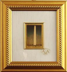 23KT GOLD LEAF FRAME PICTURE OF WASHINGTON MONUMENT