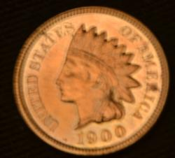 Red Proof 1900 Indian Cent