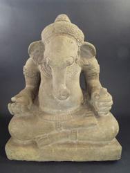19th Century Antique Large Ganesh Statue of Hindu God