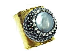 LATEST FASHION ARTISAN JEWELRY GOLD PLATED BIJOUX RING