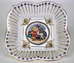 Delightful Hand Painted Highly Decorative Porcelain Dish